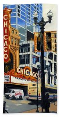 Chicago - The Chicago Theater Beach Towel