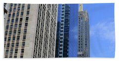Beach Towel featuring the photograph Chicago 2016 3 by Tina M Wenger