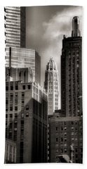 Chicago Architecture - 13 Beach Towel by Ely Arsha