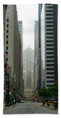 Chicago Architecture - 17 Beach Towel by Ely Arsha