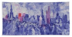 Chicago Beach Towel by Bayo Iribhogbe