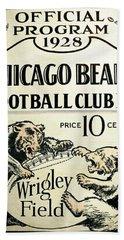 Chicago Bears Football Club Program Cover 1928 Beach Towel