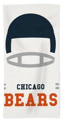 Chicago Bears Vintage Art Beach Towel by Joe Hamilton
