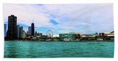 Chicago Blue Beach Towel
