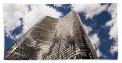 Beach Towel featuring the photograph Chicago Building by Zawhaus Photography