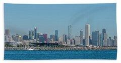 Chicago City Skyline Beach Towel