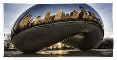 Chicago Cloud Gate At Sunrise Beach Sheet