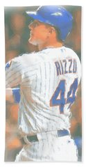 Chicago Cubs Anthony Rizzo 2 Beach Towel