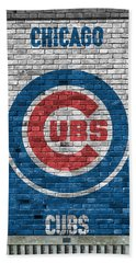 Chicago Cubs Brick Wall Beach Towel