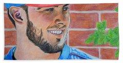 Chicago Cubs Kris Bryant Portrait Beach Sheet