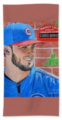 Chicago Cubs Kris Bryant Portrait Beach Towel