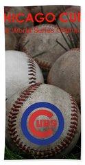 Chicago Cubs World Series Poster Beach Sheet