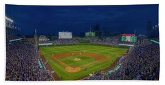 Chicago Cubs Wrigley Field 9 8357 Beach Sheet by David Haskett