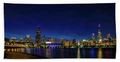 Chicago From Adler Planetarium Beach Sheet
