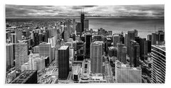 Chicago From The 70th Floor Beach Sheet