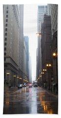 Chicago In The Rain 2 Beach Sheet