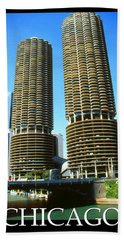 Chicago Poster - Marina City Beach Towel