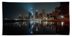 Chicago Night Beach Towel