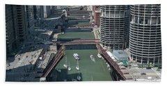 Chicago River Bridgelift Beach Towel