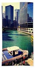 City Of Chicago - River Tour Beach Towel