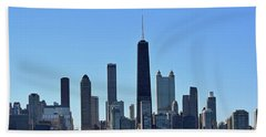Chicago Skyline No. 1 Beach Towel by Sandy Taylor