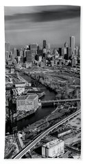 Chicago Skyline And River Beach Towel