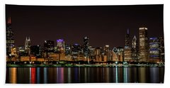 Chicago Skyline Beach Towel by Andrea Silies