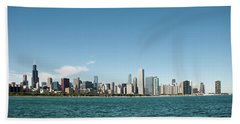 Chicago Skyline Beach Sheet by John Black