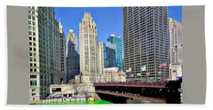 Chicago St. Patrick's Day Celebration Beach Towel