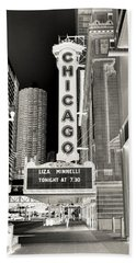 Chicago Theater - 2 Beach Towel by Ely Arsha