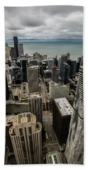 Chicago View From 70th Floor Beach Sheet