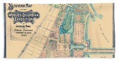 Chicago World's Fair - Columbian Exposition Map - 1893 Beach Towel