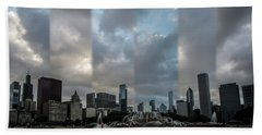Chicago's Buckingham Fountain Time Slice Photo Beach Sheet