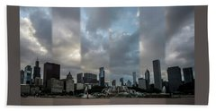 Chicago's Buckingham Fountain Time Slice Photo Beach Towel