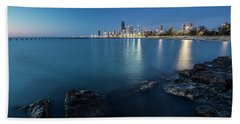 Chicago's Lakefront And Skyline At Dawn  Beach Towel