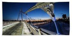 Chicago's New 35th Street Ped Bridge At Dawn Beach Sheet
