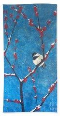 Chickadee Bird Beach Sheet