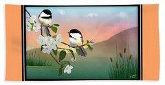 Chickadee Lake Beach Sheet by John Wills
