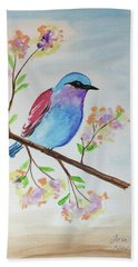 Chickadee On A Branch Beach Towel