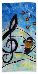 Chickadee Song Bird Beach Sheet