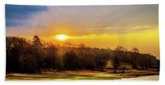Chickasaw Sunrise Beach Towel by Barry Jones
