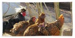 Chicken Protest Beach Sheet