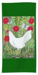 Chicken With Millefleurs And Butterflies  Beach Sheet