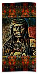 Chief Cochise Montage Beach Sheet by Wbk