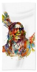 Chief Mojo Watercolor Beach Towel