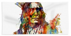 Chief Mojo Watercolor Beach Towel