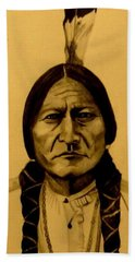 Chief Sitting Bull  Tatanka Iyotake Beach Sheet