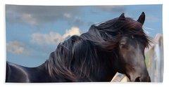 Chief - Windy Portrait Series 1 - Digitalart Beach Sheet