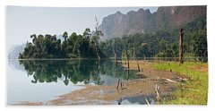 Cheow Lan Lake Morning, Khao Sok Beach Towel