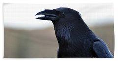 Chihuahua Raven Profile Beach Towel